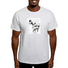 I Love My English Sheepdog Ash Grey T-Shirt