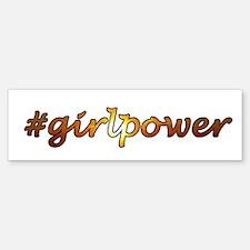 #GirlPower Bumper Bumper Sticker