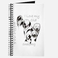 I Love My English Sheepdog Journal