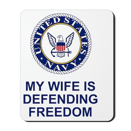 Navy-My-Wife.gif Mousepad