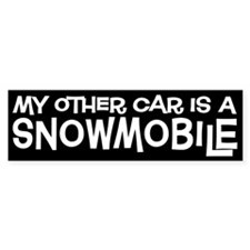 Snowmobile Bumper Bumper Sticker