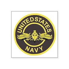 """Navy-SWO-Patch-Bonnie.gif   Square Sticker 3"""" x 3"""""""