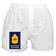 USMC-Retired-Master-Sergeant-Sticker. Boxer Shorts