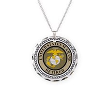 USMC-Retired-Khaki-... Necklace
