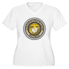 USMC-Retired-Khak T-Shirt