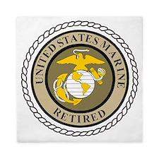 USMC-Retired-Khaki-... Queen Duvet