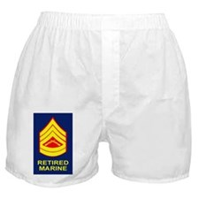 USMC-Retired-Gunnery-Sergeant-Sticker Boxer Shorts
