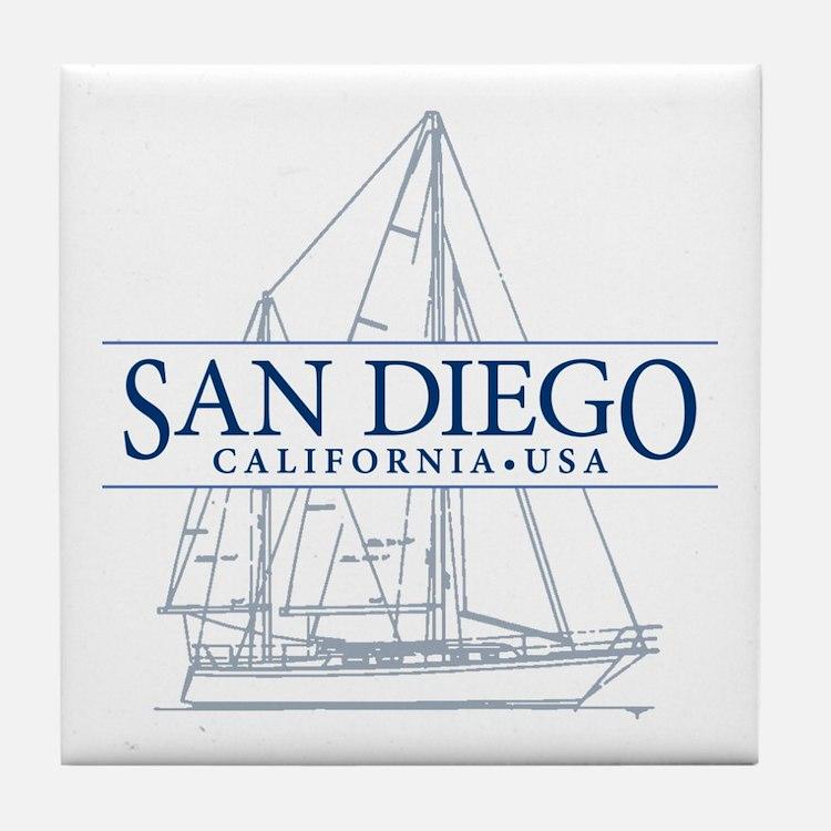 San Diego - Tile Coaster