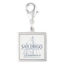 San Diego - Silver Square Charm