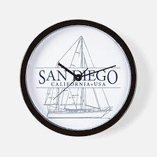 San Diego - Wall Clock