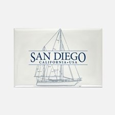 San Diego - Rectangle Magnet