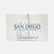 San Diego - Rectangle Magnet (10 pack)
