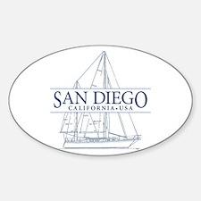San Diego - Sticker (Oval)