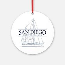 San Diego - Ornament (Round)