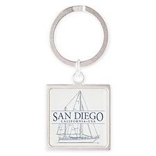 San Diego - Square Keychain