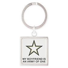 Army-Of-One-My-Boyfriend-Two.gif Square Keychain