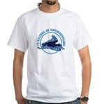 Snowmobile White T-Shirt