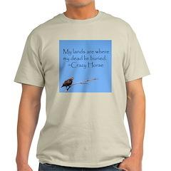 Crazy Horse Quote Ash Grey T-Shirt