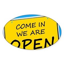 Open sign Decal