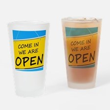 Open sign Drinking Glass