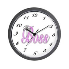 Pink Boss Lady Wall Clock