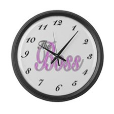 Pink Boss Lady Large Wall Clock