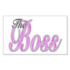Pink Boss Lady Rectangle Stickers