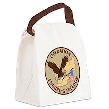 Operation-Enduring-Freedom-Khaki. Canvas Lunch Bag