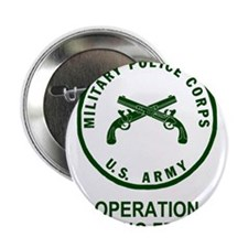 """Army-MP-Enduring-Freedom-Army-Green.g 2.25"""" Button"""