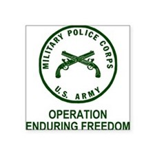 "Army-MP-Enduring-Freedom-Ar Square Sticker 3"" x 3"""
