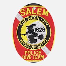 Salem Police Diver Oval Ornament