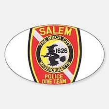 Salem Police Diver Oval Decal