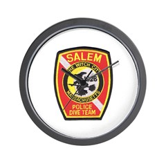 Salem Police Diver Wall Clock