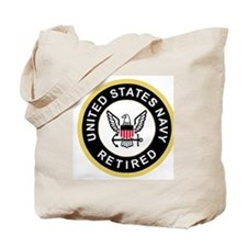 Navy-Retired-Patch-Black-Bonnie-Modified. Tote Bag