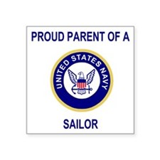 "Navy-Parent-Of-Sailor.gif   Square Sticker 3"" x 3"""