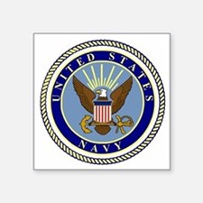 "Navy-Logo-9.gif Square Sticker 3"" x 3"""