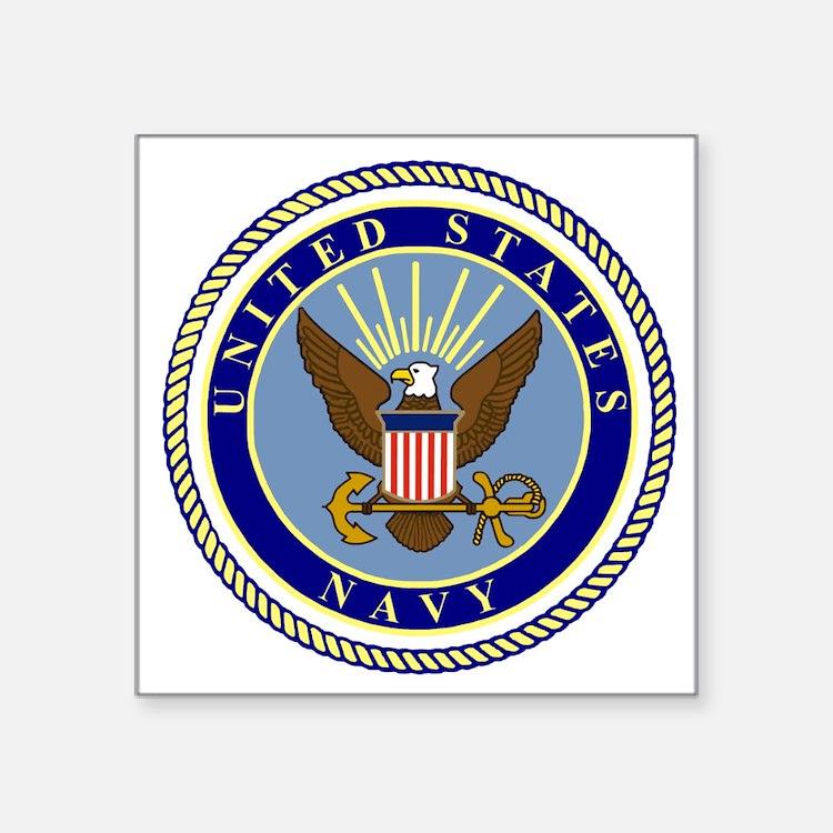"""Navy-Logo-9.gif Square Sticker 3"""" x 3"""""""