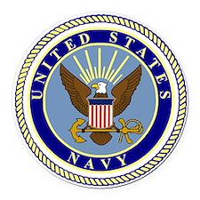 Navy-Logo-9.gif Round Car Magnet