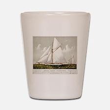 Sloop yacht Volunteer - 1887 Shot Glass