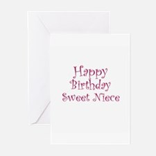 Happy Birthday Sweet Niece Greeting Cards (Package