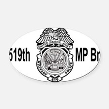 Army-519th-MP-Bn-Cap-4.gif Oval Car Magnet