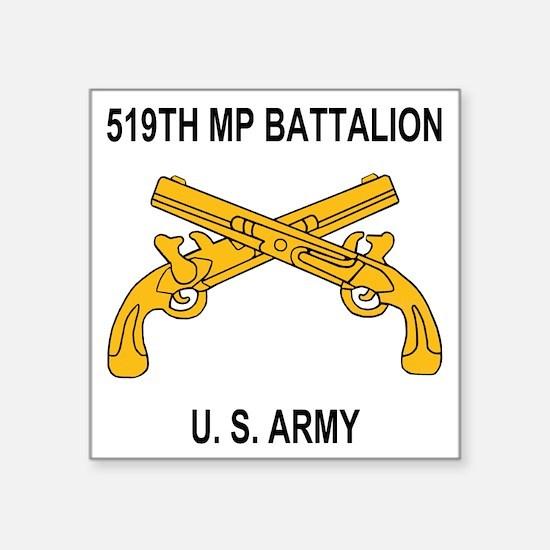 "Army-519th-MP-Bn-Shirt-6-A. Square Sticker 3"" x 3"""