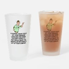 Army-Humor-Grenade-Launcher-White.g Drinking Glass