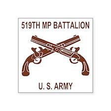 "Army-519th-MP-Bn-Shirt-6-C. Square Sticker 3"" x 3"""