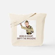 Army-Humor-Empty-Magazine-Brown.gif Tote Bag
