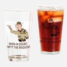 Army-Humor-Empty-Magazine-Brown.gif Drinking Glass