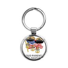 Navy-Chief-Parent.gif               Round Keychain