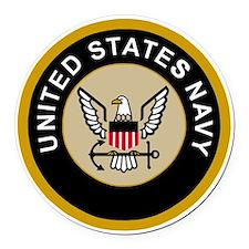 Navy-Logo-10-Black.gif Round Car Magnet