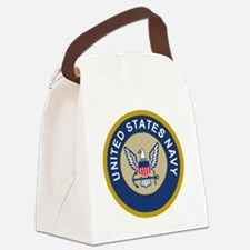 Navy-Logo-10-Blue.gif Canvas Lunch Bag