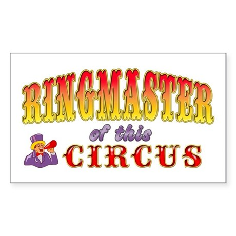Circus Ringmaster Sticker (Rectangle)